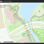 map viewer for GreenCityGIS, computer with screenshot