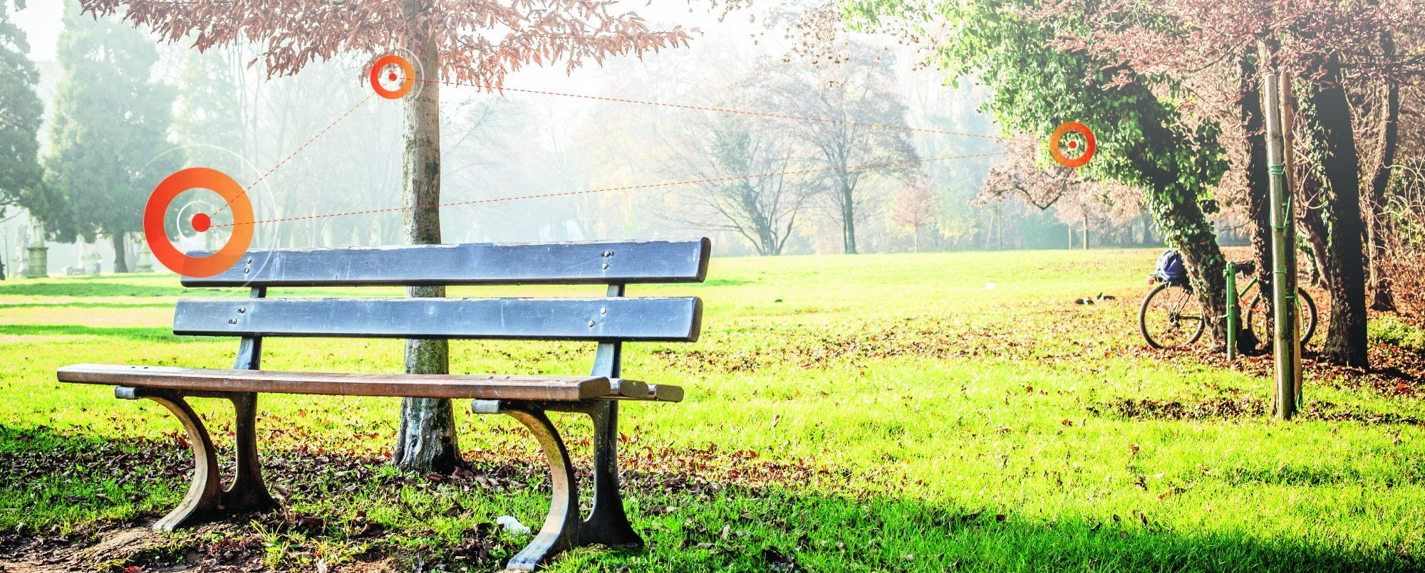 Park bench with GIS