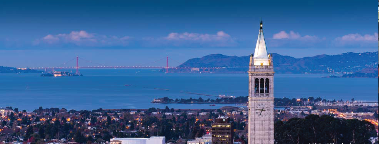 City of Berkeley, California skyline with clock tower representing LGIM.
