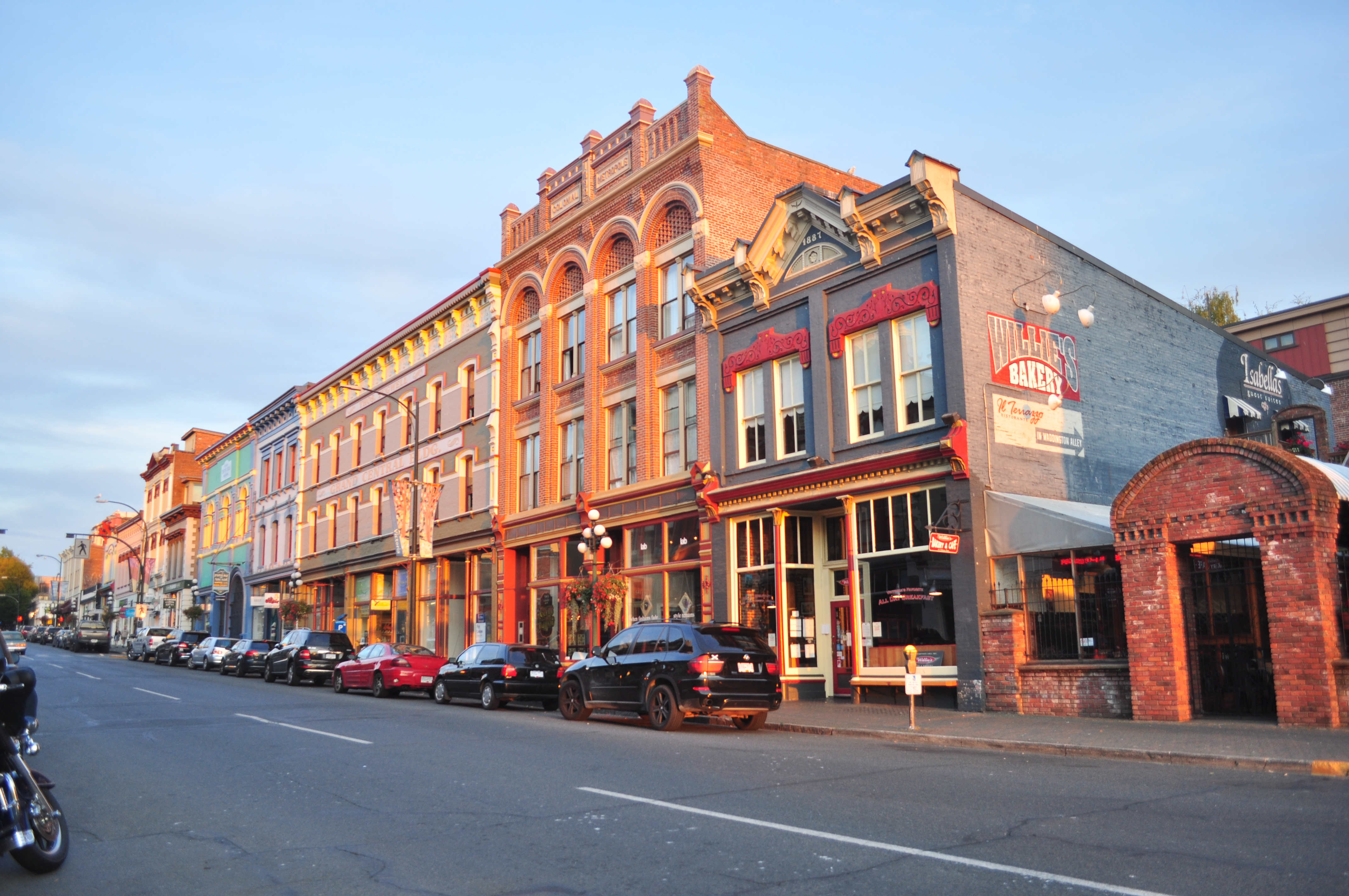 A town street is thriving thanks to economic development programs.
